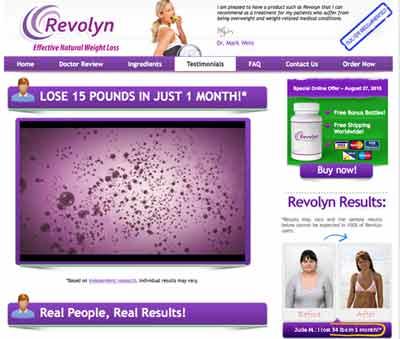 Revolyn Uk website