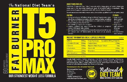 T5 Pro Max Ingredients