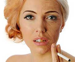 How smoking affects the skin