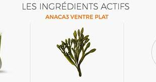 Anaca3 Ventre Plat Ingredients